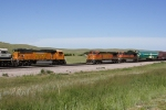 BNSF HKCKPAS1-08 meets BNSF 9880 East