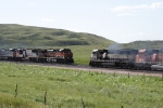 BNSF 9601 West meets BNSF 1012 East
