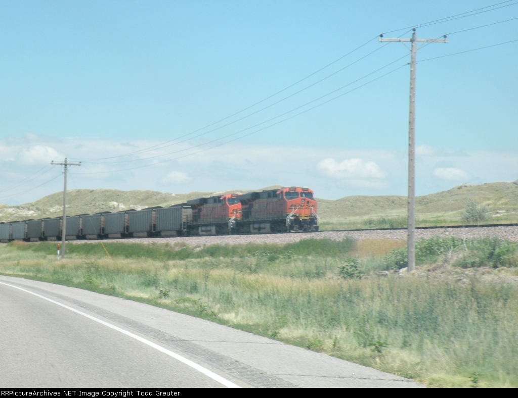 BNSF coal train through the Nebraska Panhandle