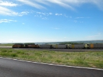 UP 6673 and Lake McConaughy