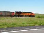 BNSF 6202 gliding through the Sand Hills