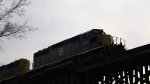 WAMX 4120 on the trestle over the Black Warrior River