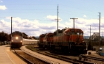 Amtrak 516 meets BNSF 2100