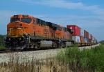 BNSF 7602, BNSF 7304 (DPU's)