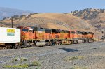 BNSF 4223 (ES44C4) leads this eastbound intermodal train at Bealville CA . UP Mojave Sub. MP 26.5. 10/25/2018