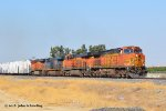 BNSF 4151 (C44-9W) eastbound at Sandcut CA. 10/25/018