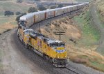 UP 8619 (SD70M) leading a Autorack train at Bealville CA. 11/17/2011