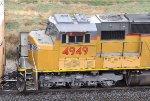 UP 4949 (SD70M) Cab & PTC details, Bealville CA. 11/18/2011