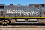 UP 6304 ex SP (AC4400CW) Speed Lettering details at Mojave CA. 8/30/2010