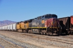 UP 6304 & 6679 (AC4400CW's) with a train of potash from Trona at Mojave CA. 8/30/2010