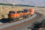 BNSF 6682 & 6768 (ES44C4's) at Sandcut CA UP Mojave Subdivision, MP 325.0. 12/5/2013