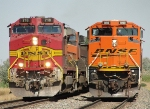 BNSF 718 and 9198