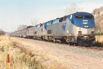 """Just after stop, """"Empire Builder"""" cruises east"""