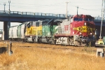 Grain train departs on the Northtown Yard runner
