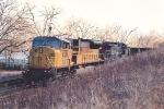 Coal train waits in siding