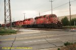 SEQUENCE SHOT #1--CP Rail train with five SD40-2 type locos!