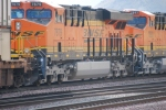 Close up shot of BNSF 7879 and BNSF 7893 as they roll eastbound as the #4 and #3 units.