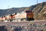 BNSF 7863 and BNSF 7870 decend the Cajon Pass on Main #2 as they pull a westbound Z-Train.