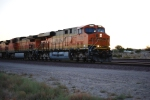 BNSF 7278 rolls into the BNSF Barstow Depot pulling a Z-Train at Sunset on this Very Hot Evening.