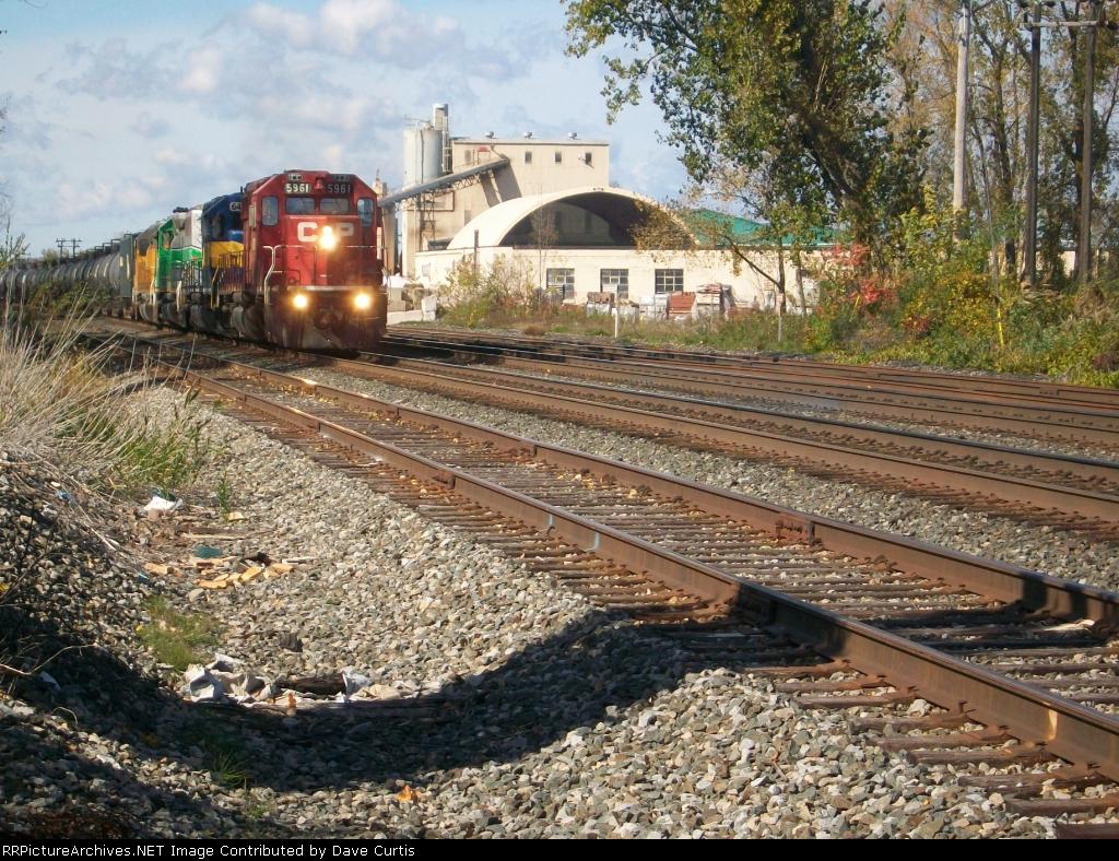 Eastbound ethanol train