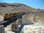 BNSF 5173 Leads the Bridge Crossing