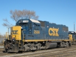 CSXT 2556 GP 38-2 At New River Yard
