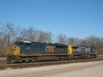CSXT 5449 ES 40-DC & CSXT  9008 At New River Yard