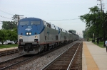One of Amtrak's long distance trains heads west.