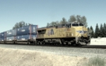 UP 7831 as the rear end DPU on the KLTG4