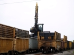 Work Train Loading Ties