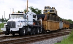 Tie Train(With Western Star Truck As Power) On The Move