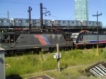 NJT 4410 (ALP-44) and NJT 4639 (ALP-46) Together passing Hunters Point!