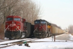 Dual AC4400-Powered Coal Freights on the IHB Mainline
