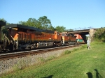 BNSF 7370 and 4018
