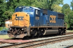 CSX 8745 makes a light WB move up the Old Main Line