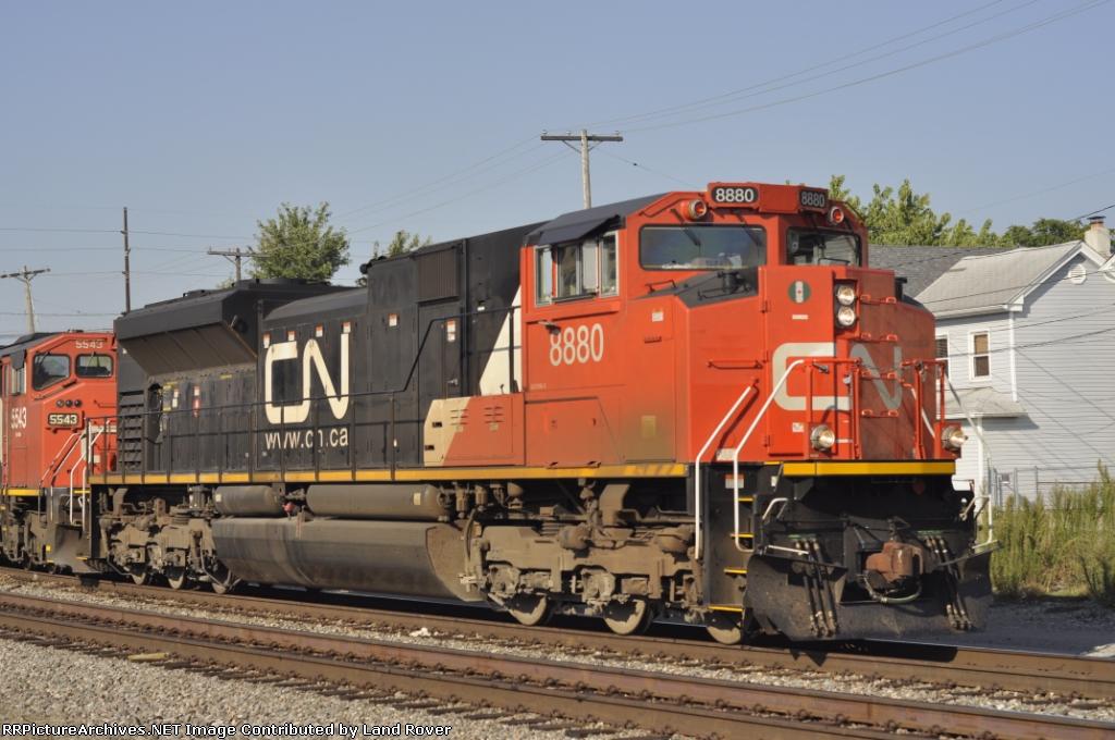 CN 8880 On CSX Q  227-28 Southbound