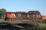 CN Dash 9s roll into Blue Island