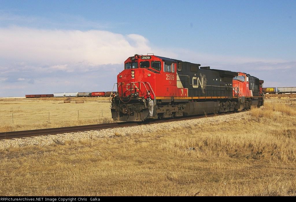 CN 2509 trailer of EB grain lifter at Louis Dreyfus elevator