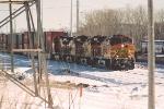 Westbound intermodal waits to depart
