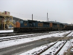 Applachian Power train coming into Folkston as Winter Storm approaches