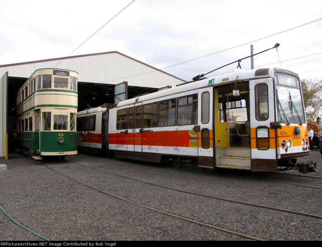 MUNI 1213 and Blackpool Tramways 48