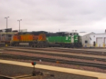 BNSF 4536 and 8104