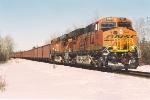 All-rail ore train rolls soputh
