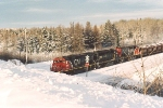 Loaded taconite train enters yard
