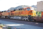 BNSF 7917 and BNSF 7308 roll past me on their way west to San Bernardino or Los Angeles, CA.
