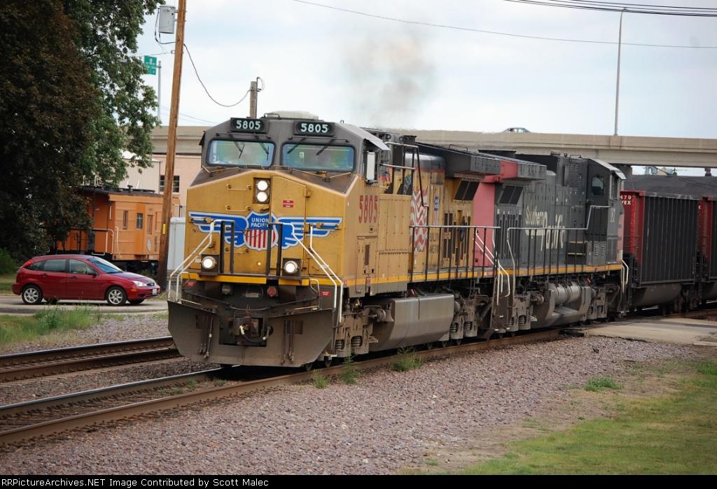 UP 5805 & SP 187 (unpatched)