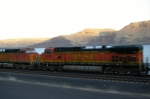 BNSF 5348 TAKEN FROM THE CAR TRAVEL ALONG ASIDE OF IT