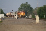 BNSF 4604 Leads a Z Train Over the Old GN/NP Diamond