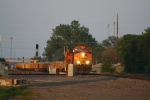 BNSF 4767 Leads a Rip Rap Train West for Repairs on the Devils Lake Sub