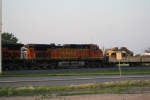 BNSF 4653 Heads to the Devils Lake Sub for Rip Rap Work